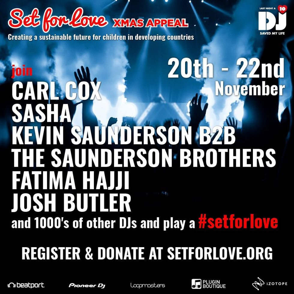 Carl Cox & Sasha to headline livestream in aid of World Children's Day -  Electronic Groove