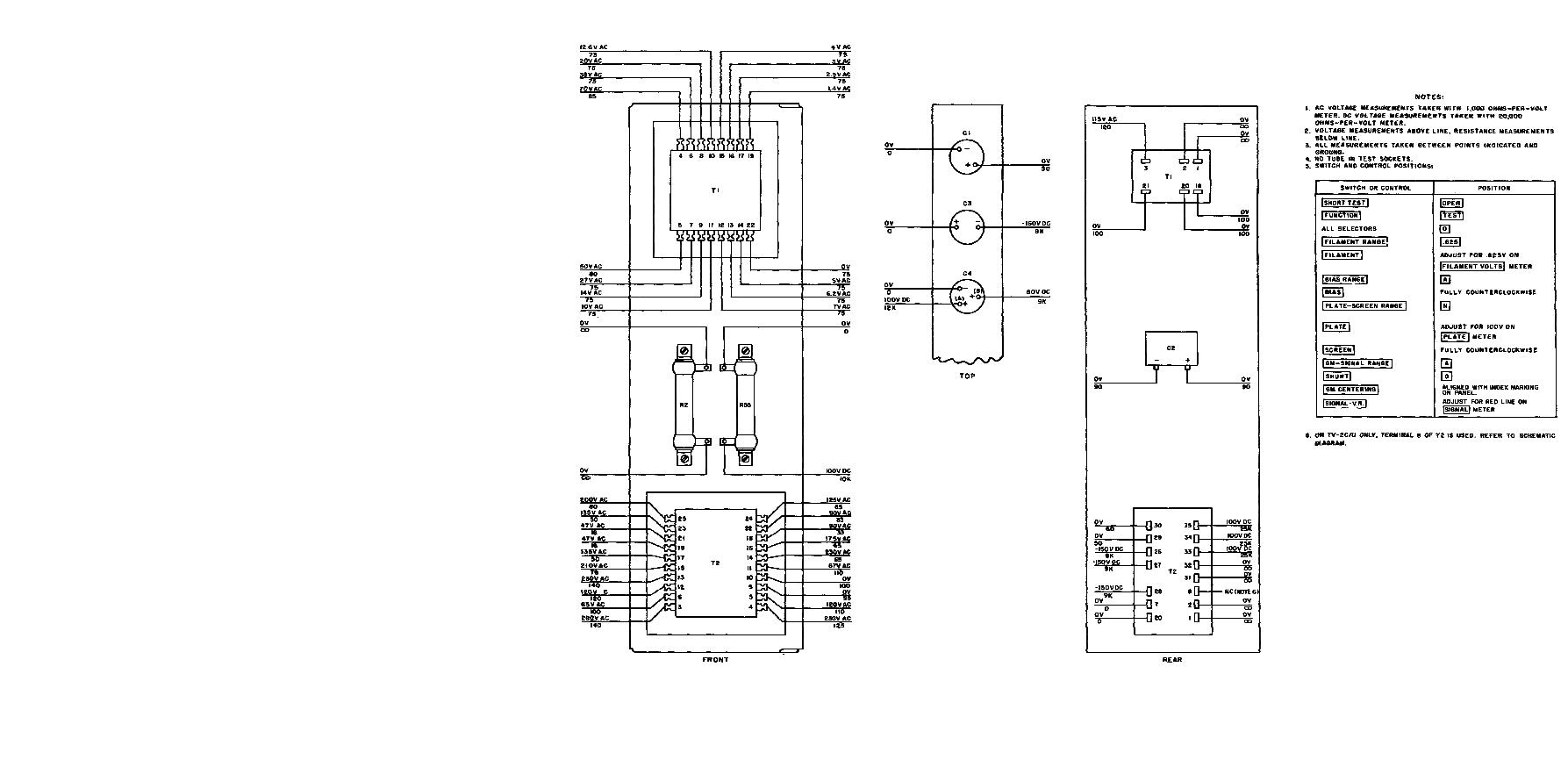 Figure 12 Chassis Voltage And Resistance Diagram