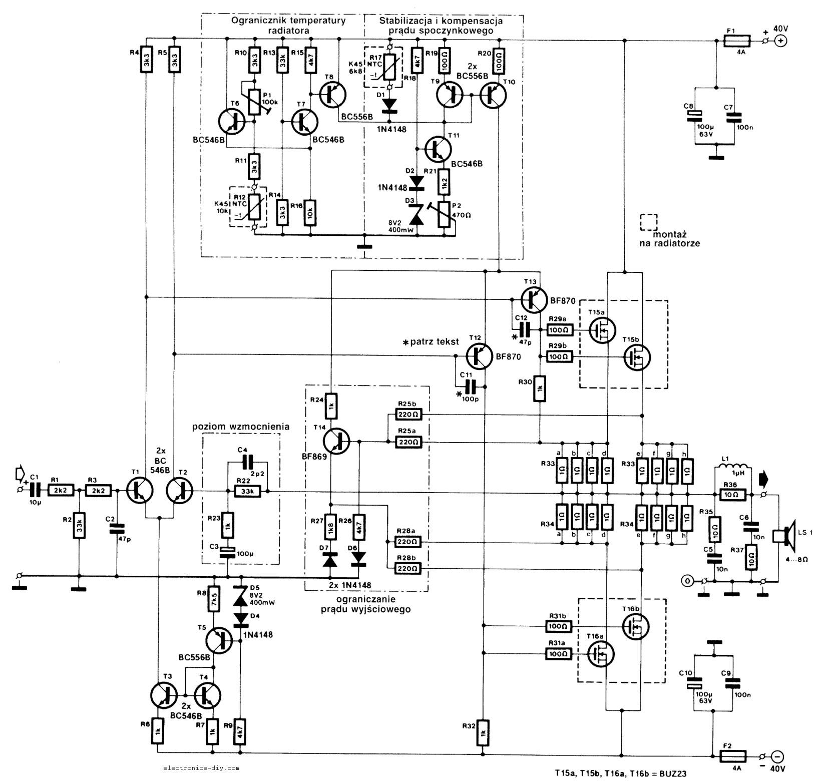 240w Mosfet Amplifier