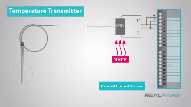 يوضّح جهاز RTD.