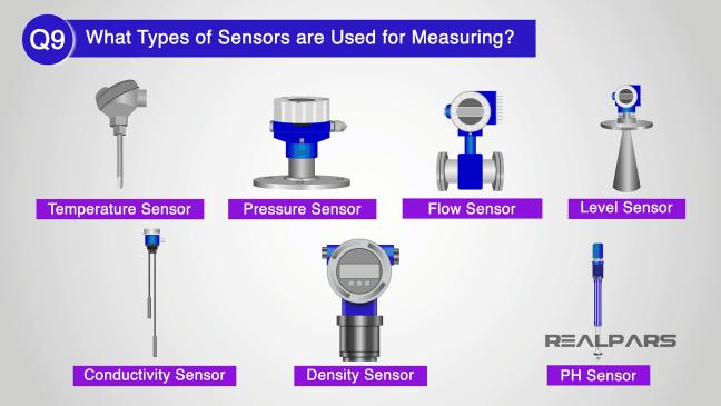 أجهزة الاستشعار المستخدَمة للقياس