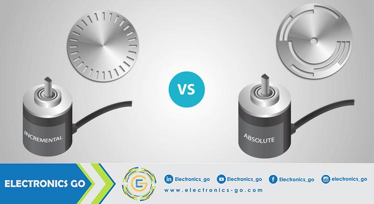 الفرق بين المشفر المطلق (Absolute encoders) المشفر التزايدي (Incremental encoders)