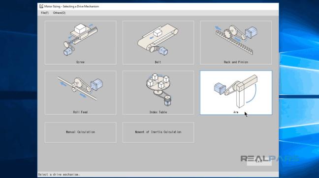 خياراتُ الأجزاء الميكانيكيَّة المختلفة