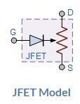 ترانزستور JFET (حقوق الصورة: موقع electronics tutorials)