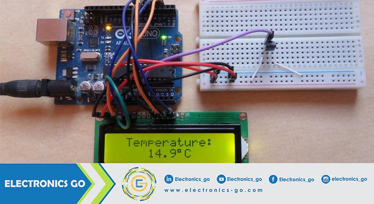حساس الحرارة LM35 وربطه بالأردوينو – عرض الحرارة شاشة LCD
