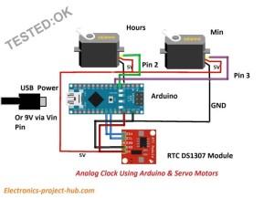 Analog Clock Using Arduino and Servo Motors – DIY