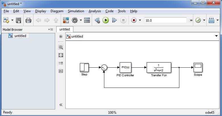 Tools That Can be Used in Control System Design: simulink model