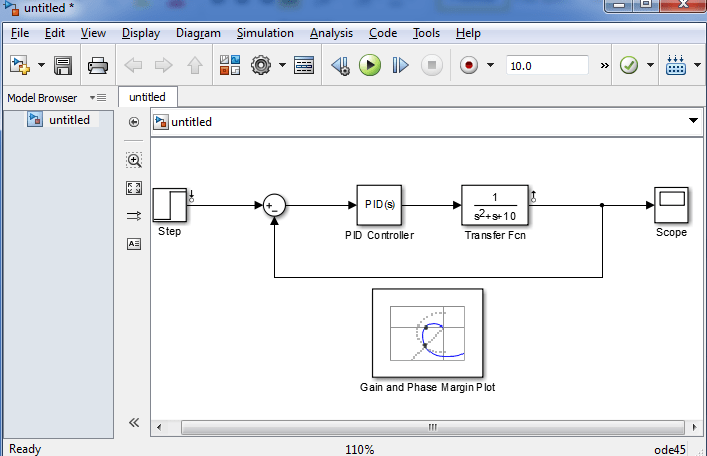 Tools That Can be Used in Control System Design: bode plot in simulink