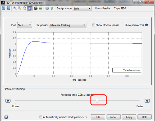 Control Tuning Using Simulink Auto Tune Feature