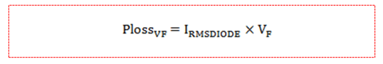 power dissipation equation of the diode