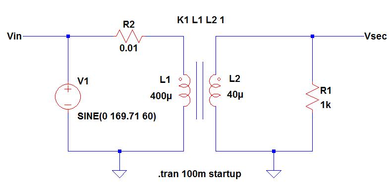 Transformer Model in LTSpice