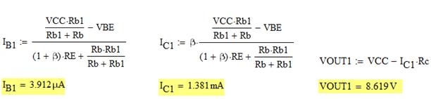 NPN transistor equations