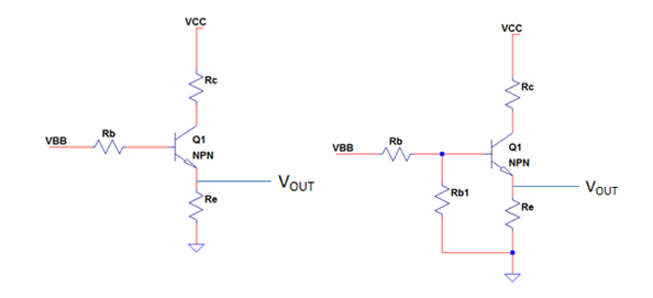 common collector NPN transistor