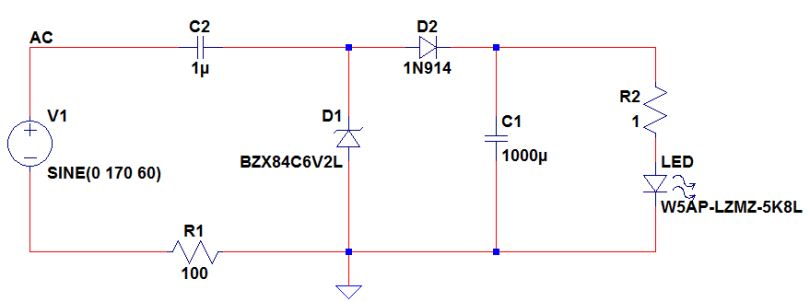 transformerless LED driver circuit