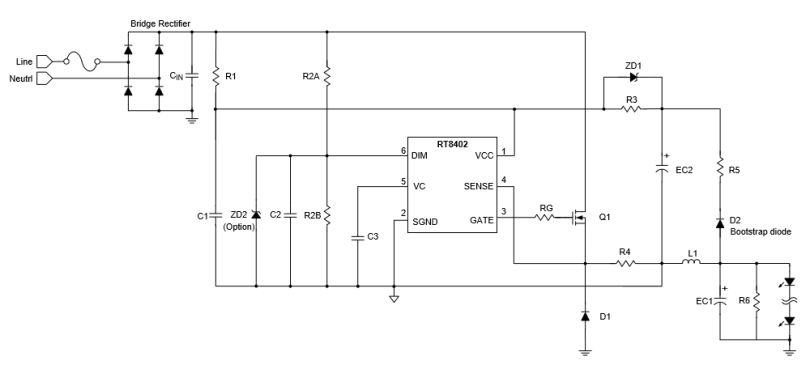 non-isolated LED driver circuit
