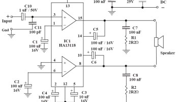 Tip41 Tip42 Amplifier Circuit Diagram - Wiring Diagrams Schema