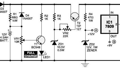Basic UPS Circuit 5V and 12V DC | Electronic Schematic Diagram
