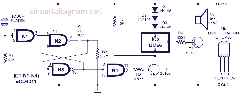 220v ac lamp touch dimmer electronic schematic diagrammusical bell with touch switch