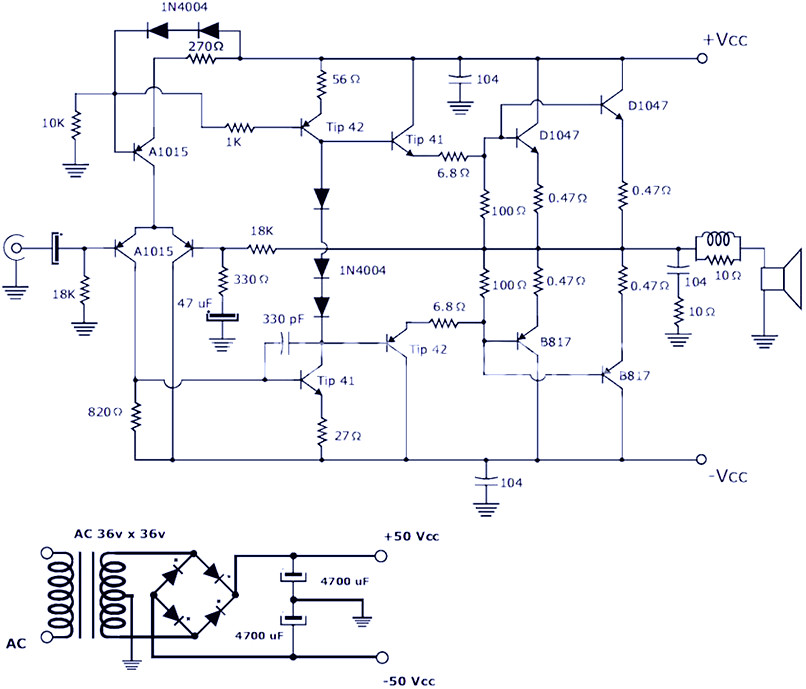 power amplifier 2000 watt electronic schematic diagram200w power amplifier using transistor