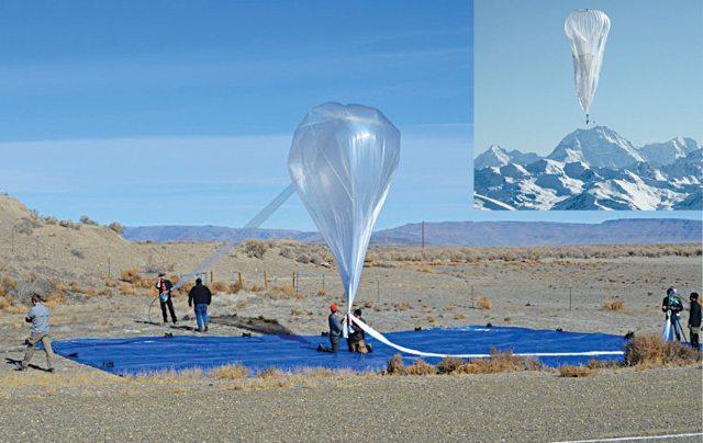 Fig. 2 Google is flying Internet balloons--Courtesy Google