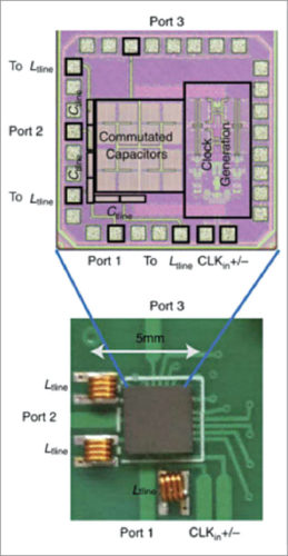 Circulator IC embedded into communication circuit