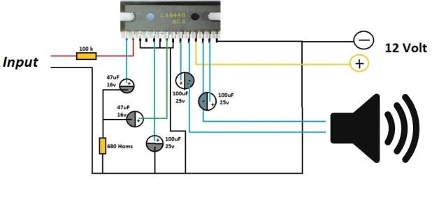 la4440 amplifier circuit diagram, la4440 circuit, la4440 circuit diagram
