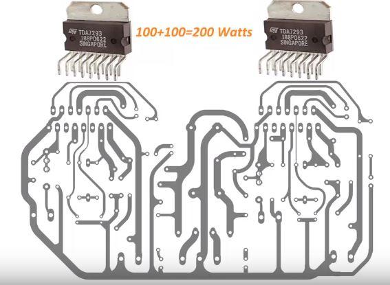 TDA7293 used in 100 Watts amplifier circuit - Electronics ...