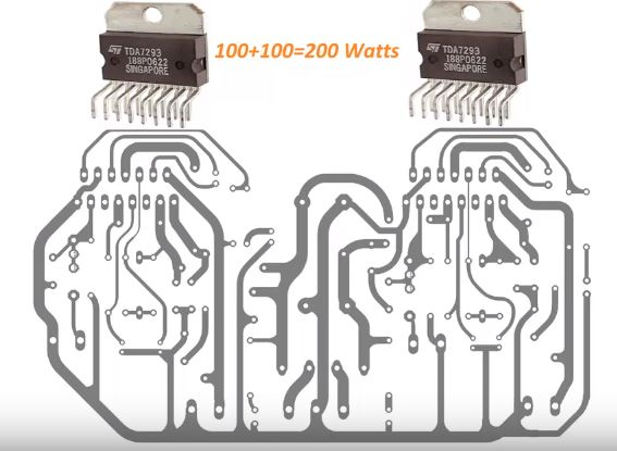 100 Watts amplifier circuit