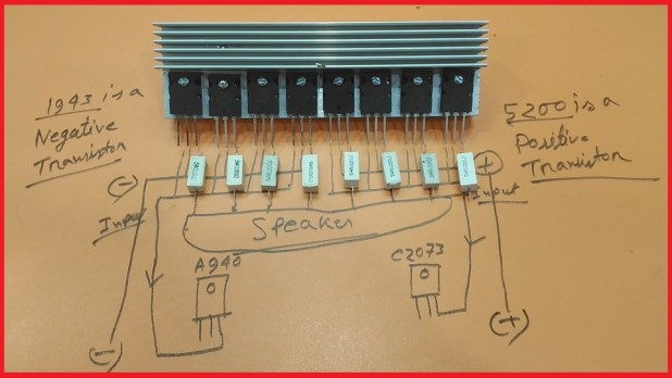 how to add more transistor to the amplifier?