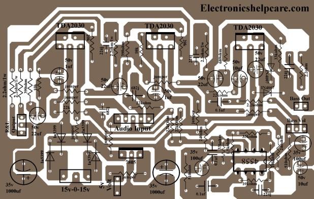 2.1 home theater circuit diagram