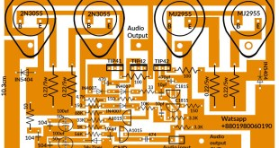 2n3055 amplifier circuit diagram 200 watts.