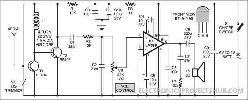 Schematic Diagram Of Radio Receiver | Wiring Diagram on crystal radio schematic, transistor radio schematic, am radio circuit schematic,