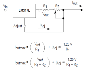 lm317 adjustable voltage circuit