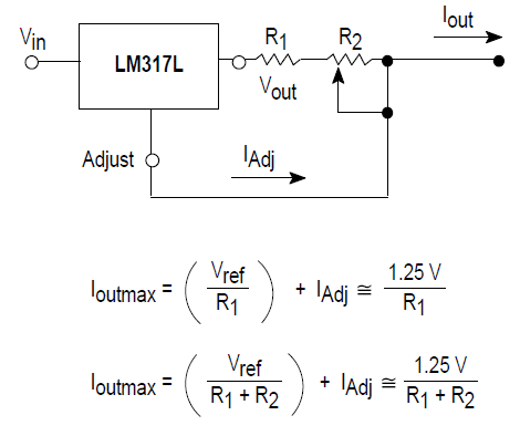 lm317 adjustable voltage circuit