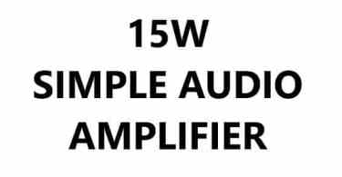 SIMPLE AUDIO AMPLIFIER