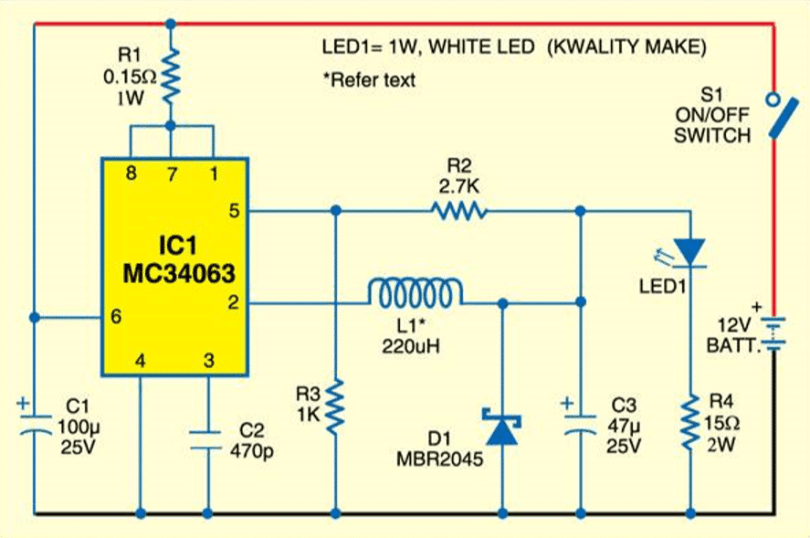 dc to dc converter circuit