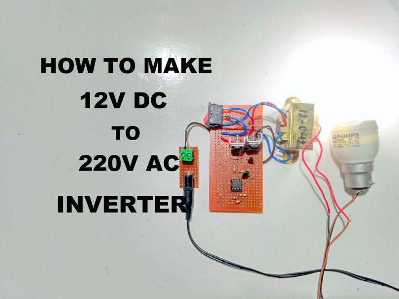 12v to 220v inverter circuit