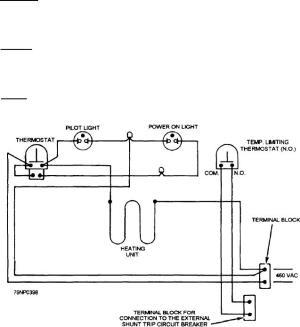 Figure 550Wiring diagram of the Mk 721 deep fat fryer