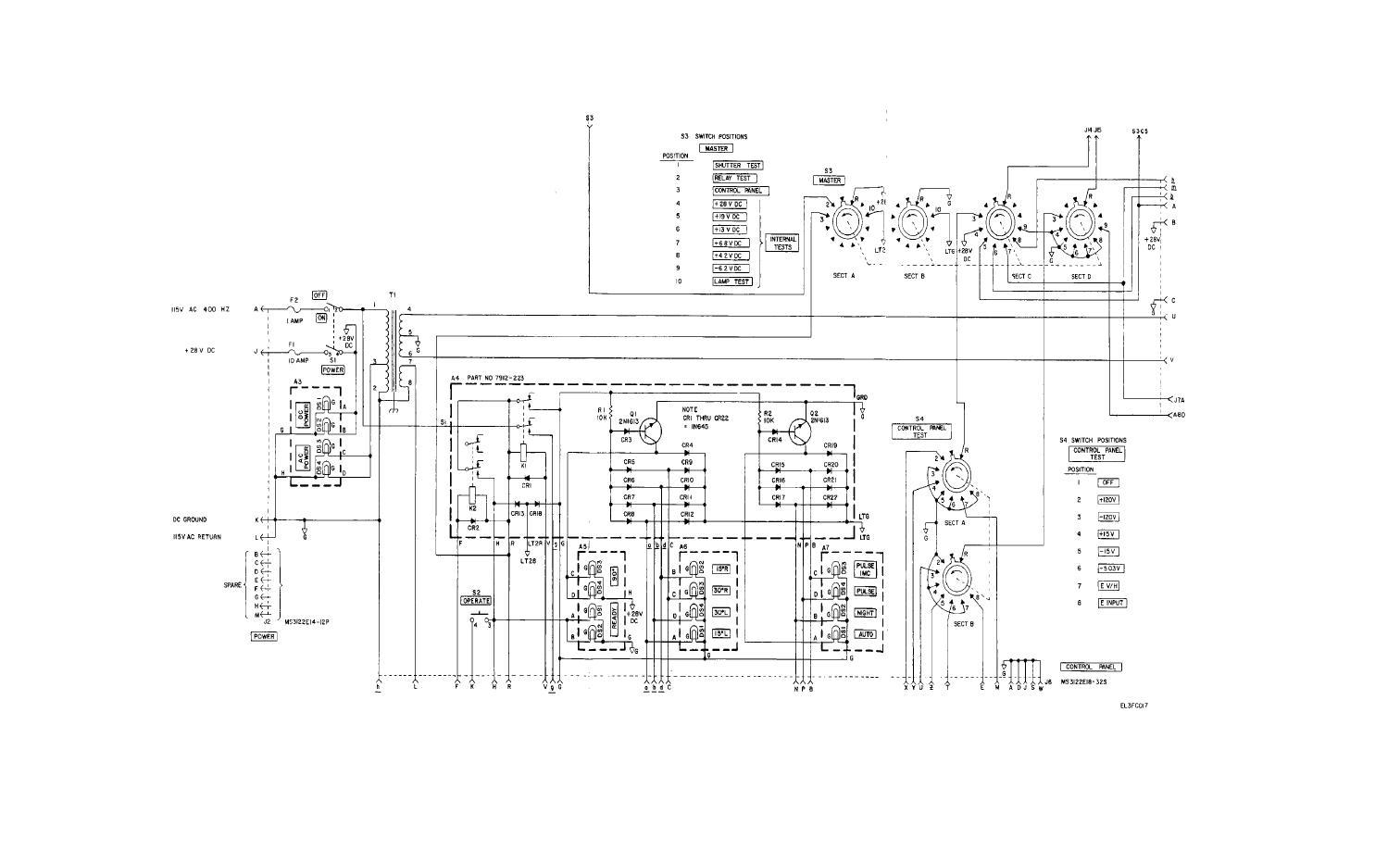Fo 5 Shutter Test Set Overall Schematic Diagram Sheet 3