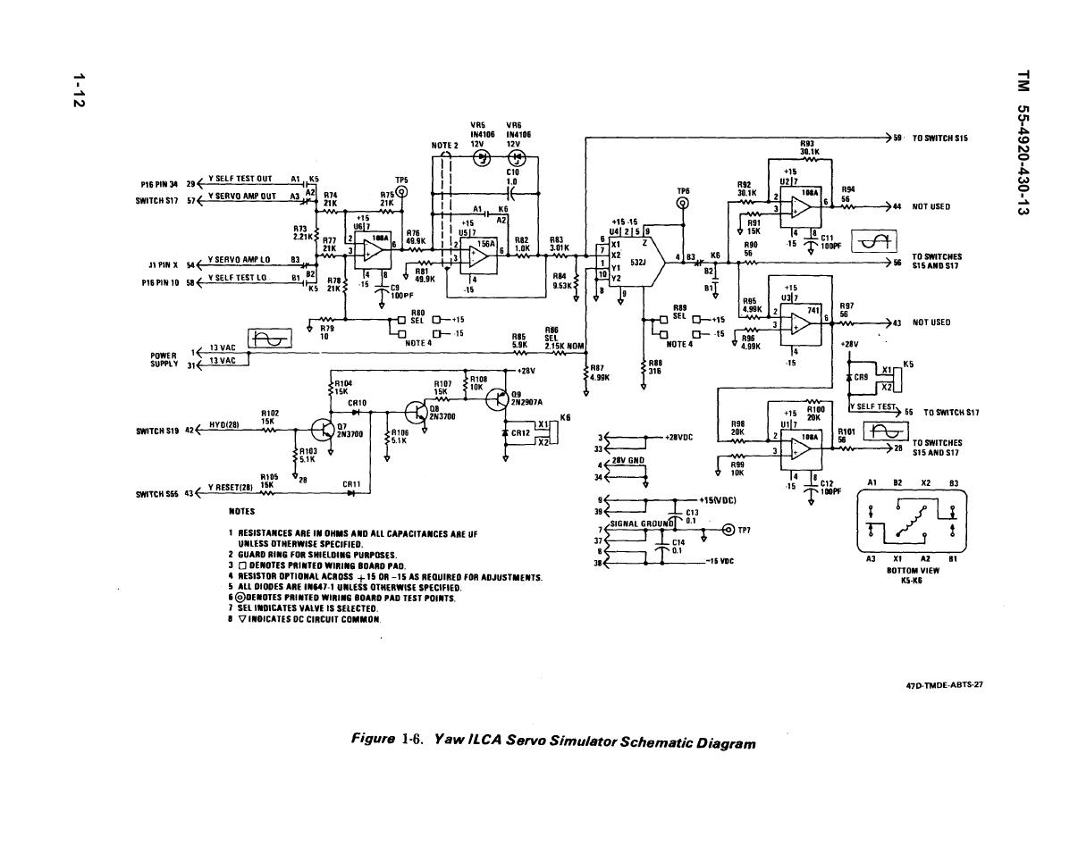 Figure 1 6 Yaw Ilca Servo Simulator Schematic Diagram