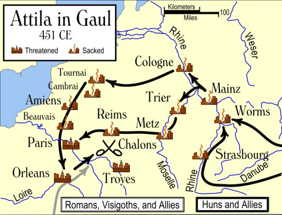 Atila in Gaul