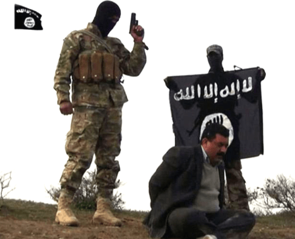 Screencap from ISIS video
