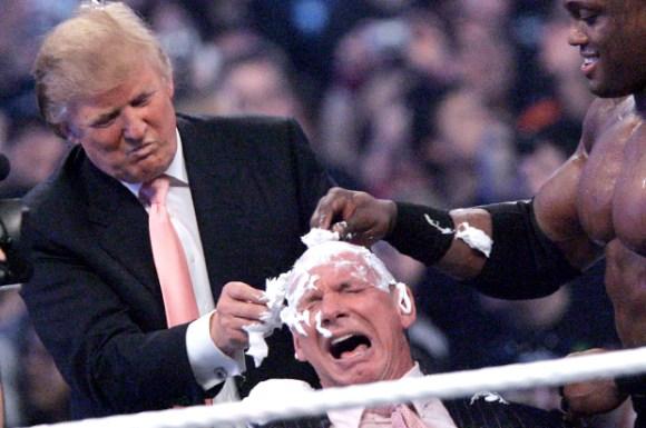 Donald Trump, Vince McMahon, Bobby Lashley