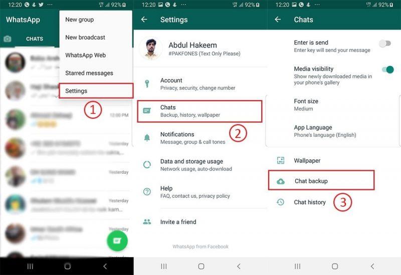 how to make backup of whatsapp