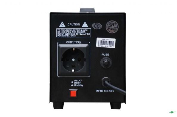 Stabilizator tensiune Electropower EP-SAR-500VA-(300W)-230V back