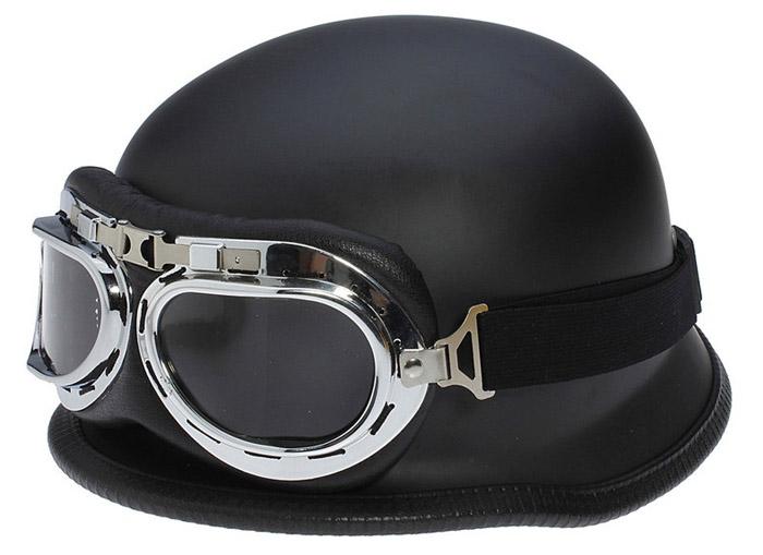 Простой вариант мото-вело шлема в стиле немецкой каски
