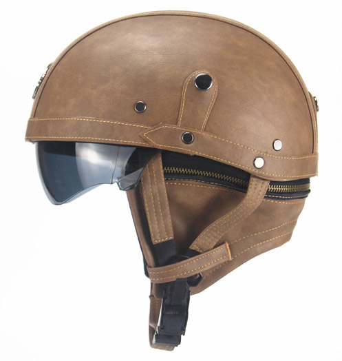 велошлем шлем в стиле ретро со встроенным визором