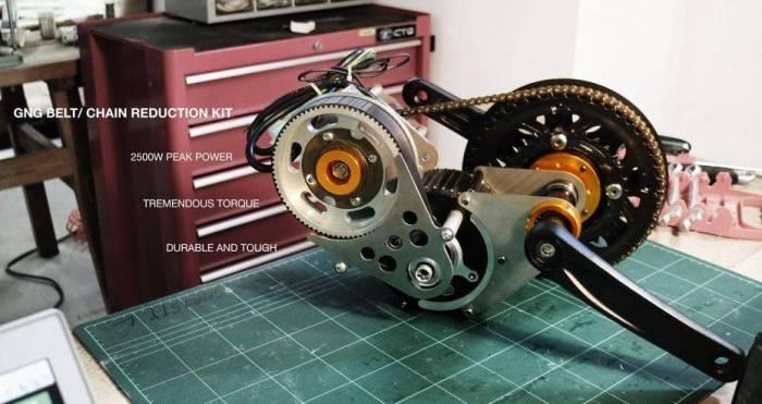 электрический веломотор GNG Premium кареточный мотор