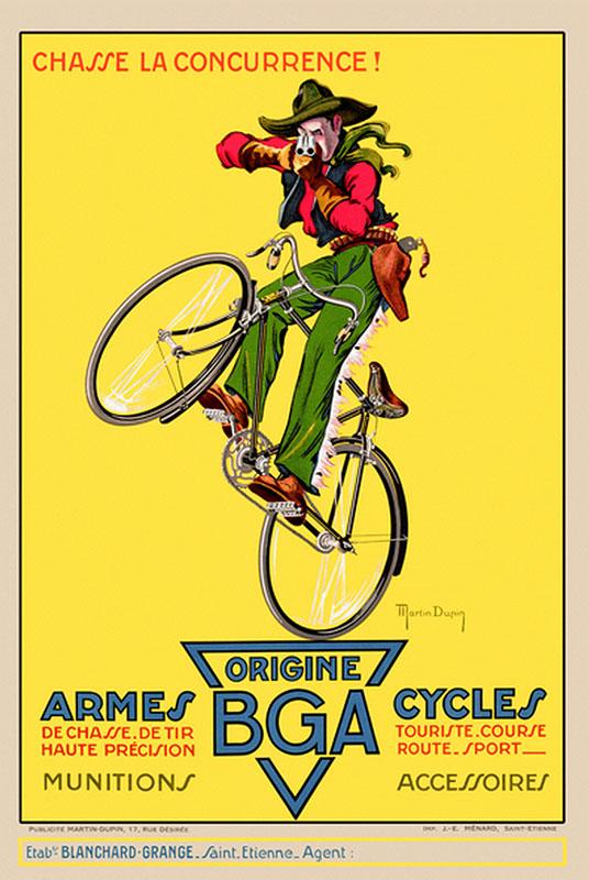 ковбой постер велосипед велосипеды