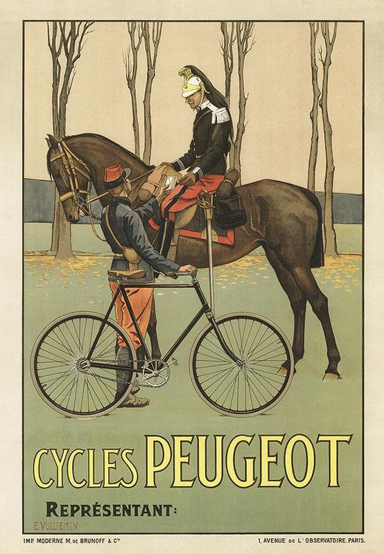постер милитари велосипед ретро